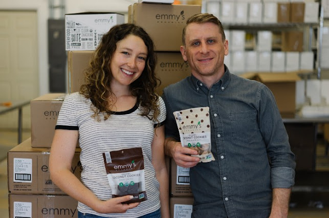 Sam and Ian of Emmy's Organics