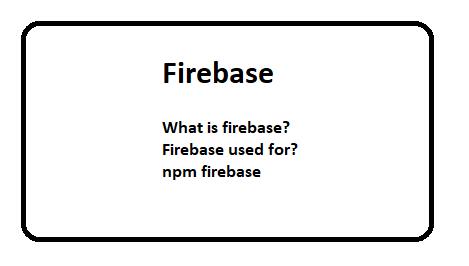 npm firebase