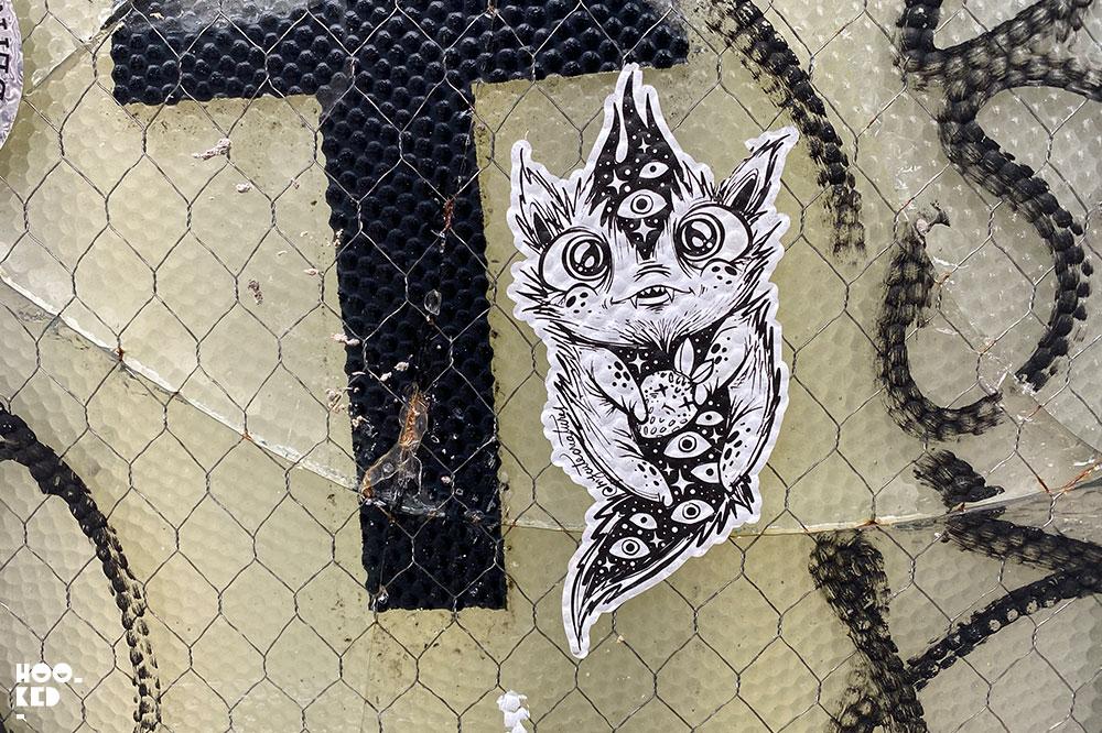 Shoreditch Street Art Stickers My Cute Creatures 03