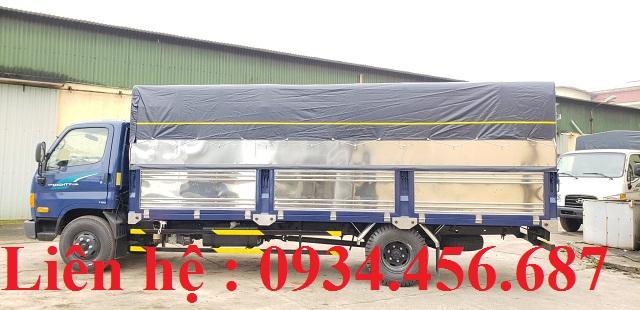 Giá xe tải Hyundai 110sl thùng bạt dài 5m7