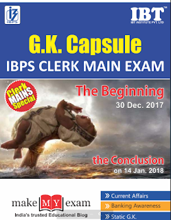 GK Capsule for IBPS Clerk Main Free PDF