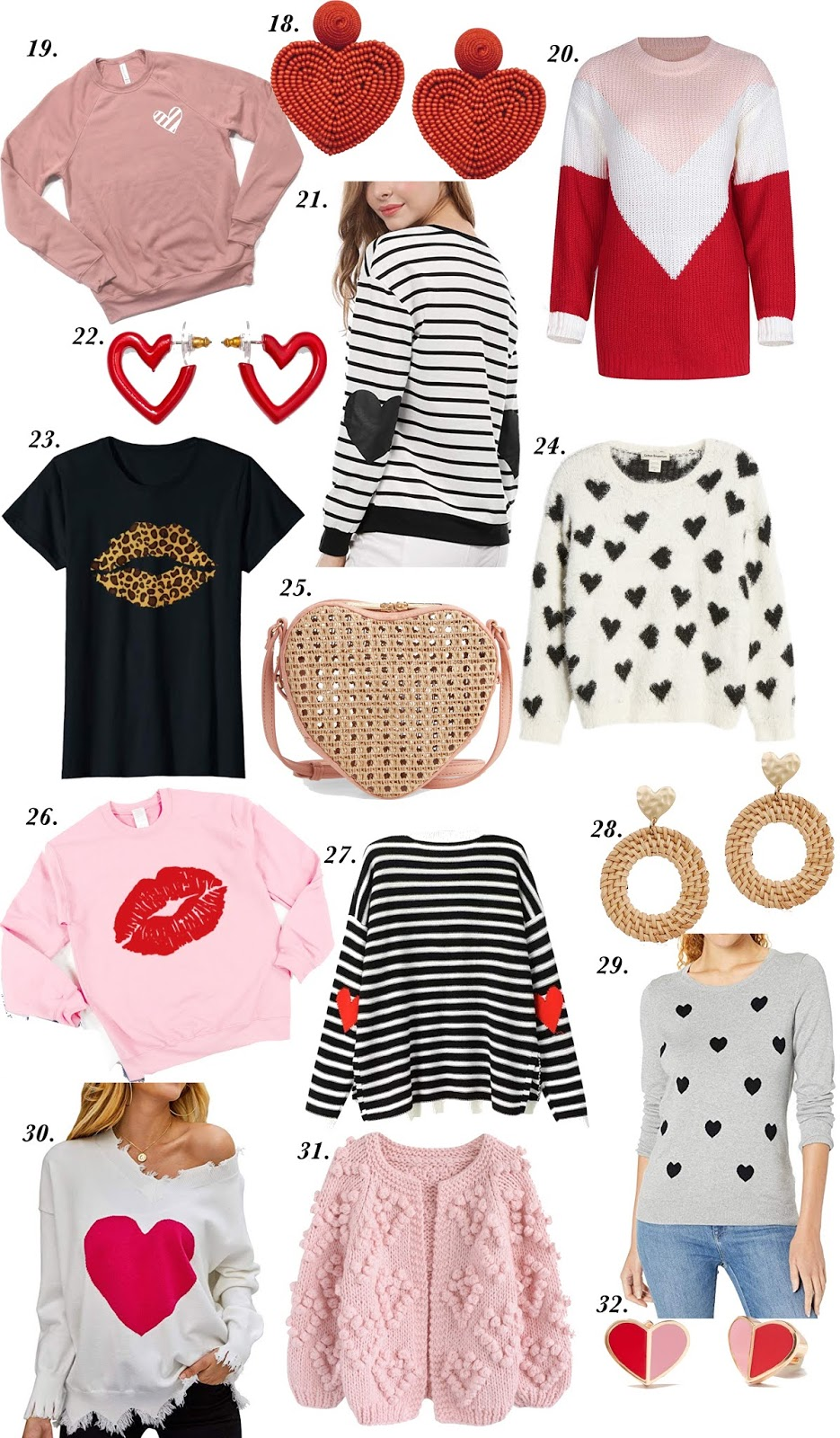 All Things Hearts! Valentine Heart Pieces - Something Delightful Blog #ValentinesDay #VDay #ValentinesDay2020 #Hearts #ValentineGifts #BeMyValentine #HeartPieces #HeartSweater