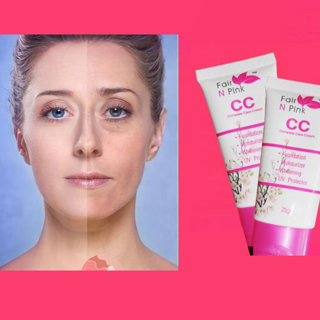 Cc Fire N Pink Fair Cream Foundation Moisturizer Whitening Uv Protector Creamnetto 25 Gram