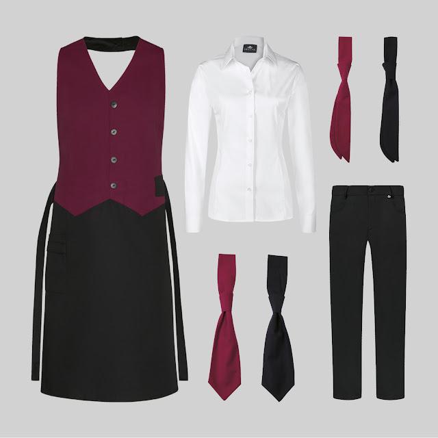 Komplette Berufsbekleidungs Outfits für Gastronomie und Service gibt es bei COMO Fashion