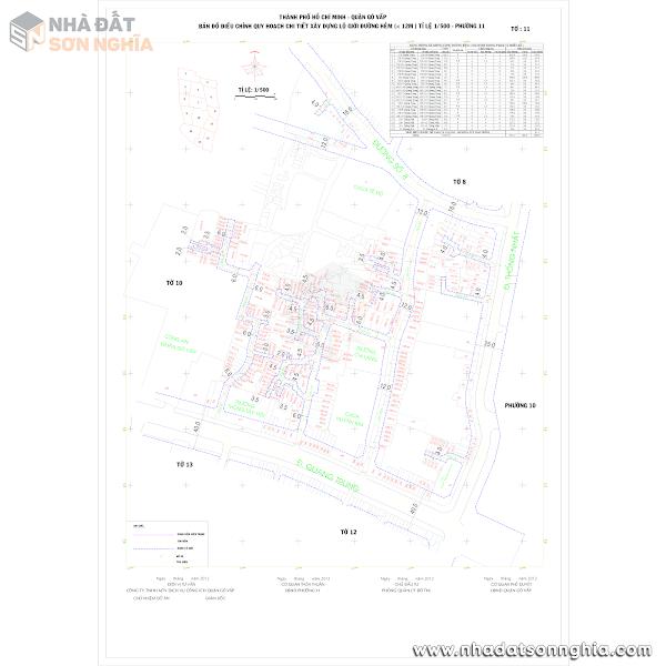 Bản đồ lộ giới hẻm phường 11 quận Gò Vấp
