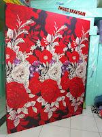 Kasur busa inoac tangerang 2017 motif sarung gambar bunga rosiana merah maroon