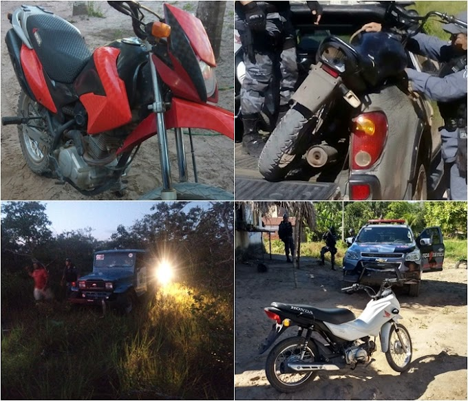 Polícia recupera Toyota roubada em Tutoia, e outros 4 veículos com registro de roubos
