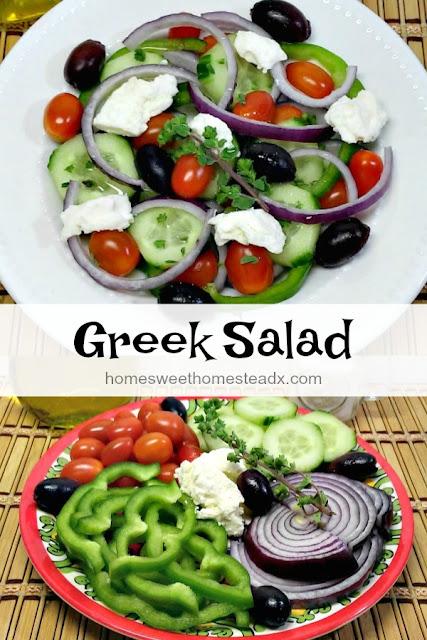 Home Sweet Homestead - Greek Salad (Horiatiki Salata)