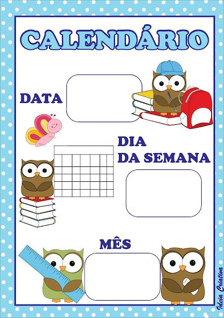 9 Cartazes de Rotina tema Corujinhas para Educação Infantil
