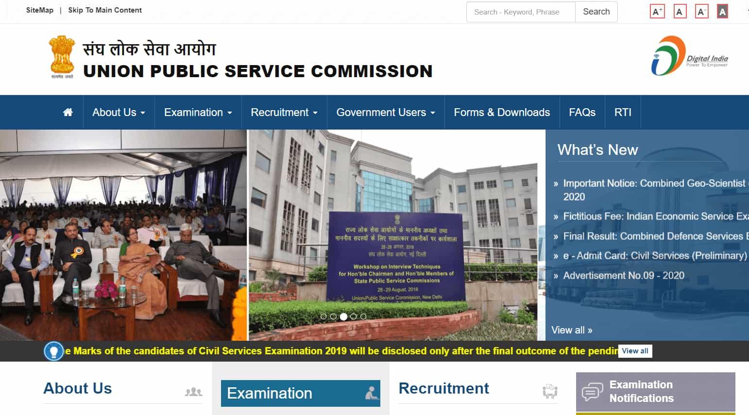 UPSC CSE 2019 Marks delayed