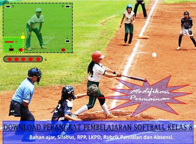 Download Perangkat Pembelajaran Softball Kelas 8 : Bahan Ajar, Silabus, RPP, LKPD, Rubrik Penilaian dan Absensi.