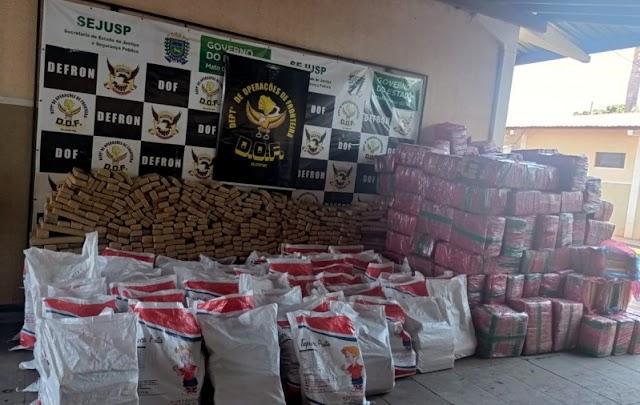 DOF apreende mais de 6 toneladas de droga em caminhão