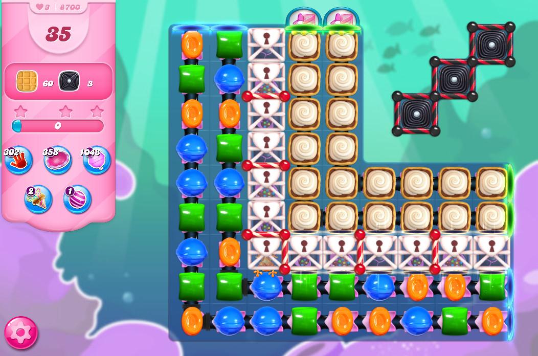 Candy Crush Saga level 8700