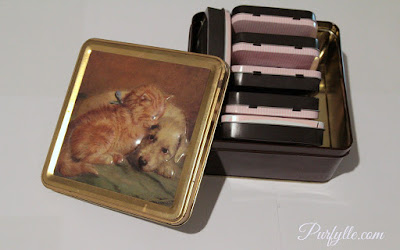 Cutesy tins are not worth holding onto if all they contain is clutter.