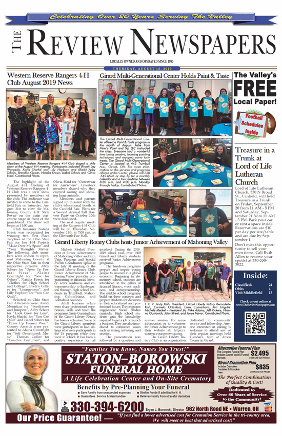 Click to download the August 15, 2019 edition