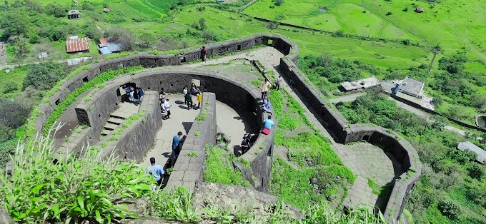 Top view of Lohagad Fort