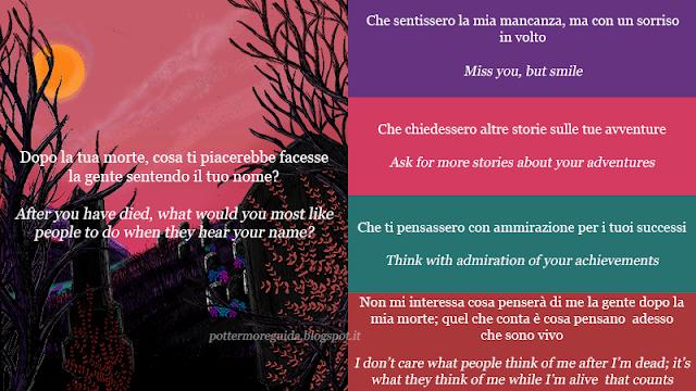 Dopo la tua morte, cosa ti piacerebbe facesse la gente sentendo il tuo nome?