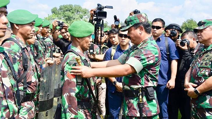 Panglima Cek Kesiapan dan Netralitas Prajurit TNI di Jawa Tengah Menghadapi Pesta Demokrasi