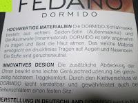 Info: Schlafmaske DORMIDO von Fedano - Premiumqualität aus BIO-Baumwolle und Echter SEIDE - Schwarz - Hochwertige Schlafbrille & Augenmaske für Frau und Mann - Für die Reise und Zuhause Geeignet - HERGESTELLT in MÜNSTER, NRW