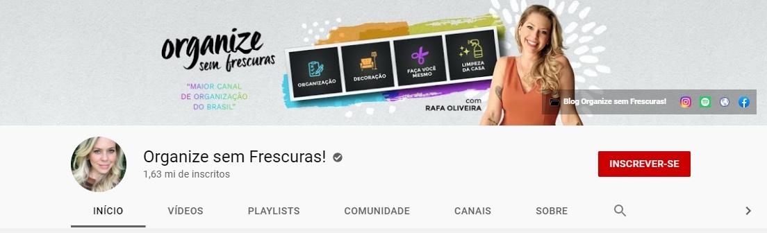 Organize sem frescuras | Youtube