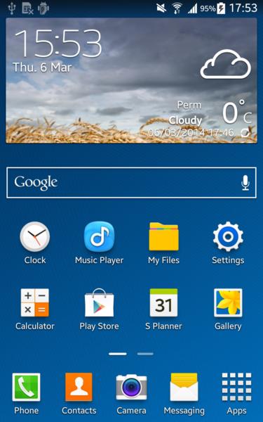 APK] Samsung Galaxy S5 Weather Widget - Ported!