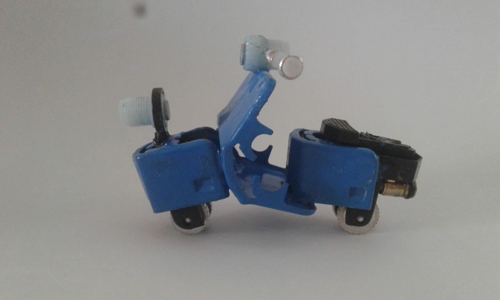 Karya Siswa : Cara Membuat Miniatur Vespa Dari Korek Api ...