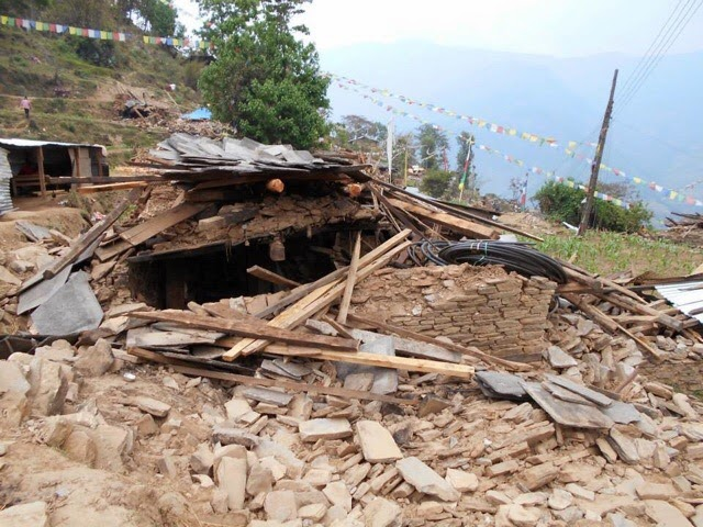 Angel's house destroyed by earthquake