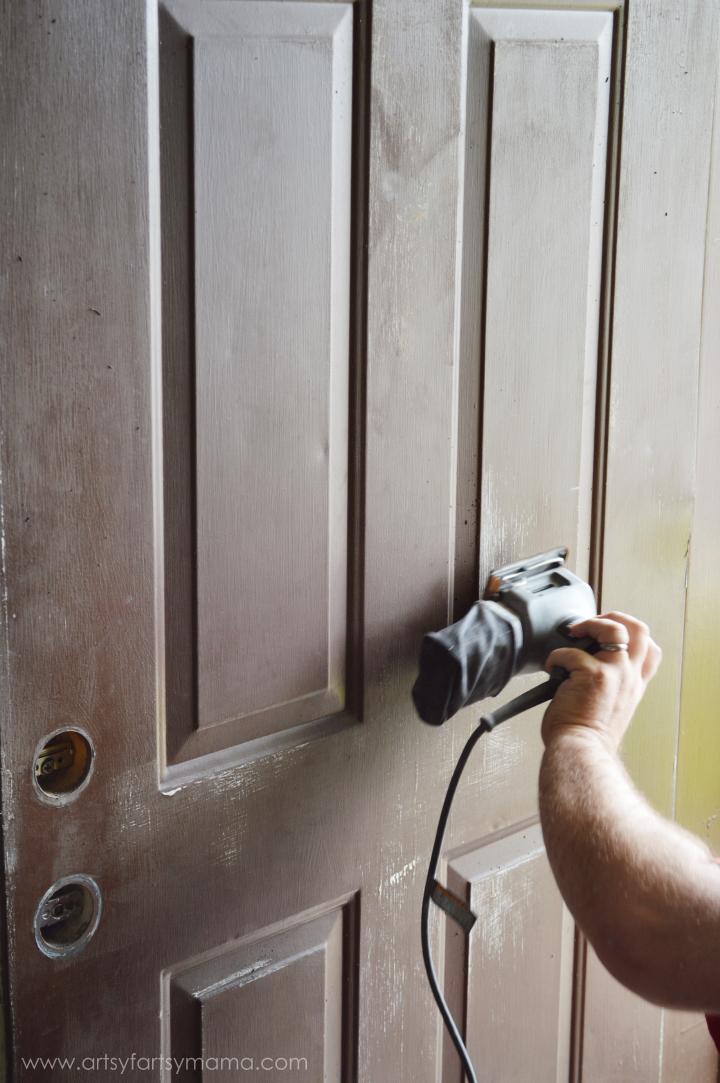 Front Door Makeover at artsyfartsymama.com #ModernMasters
