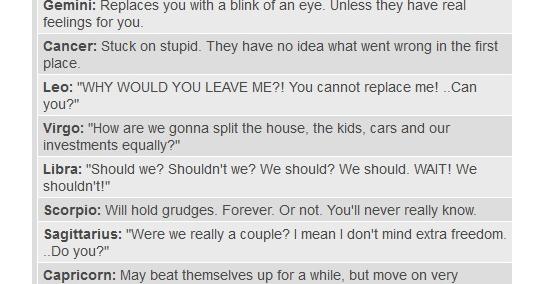 How Zodiac Signs Handle Breakups | Funny Zodiac