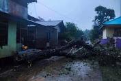 Bencana Angin Puting Beliung Di Sanggau, Kepala Pelaksana BPBD serahkan bantuan bahan Material