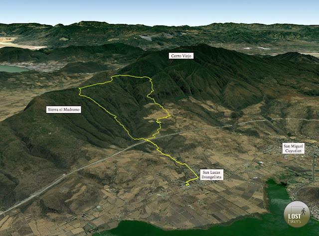 Excursión en la cara norte del Cerro Viejo desde San Lucas Evangelista