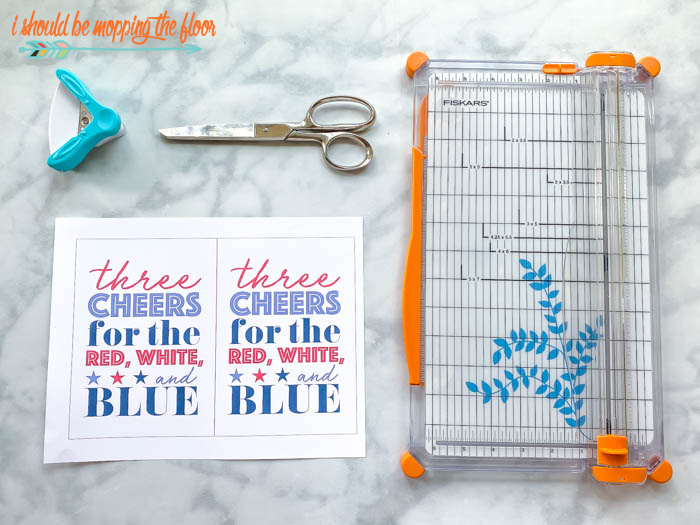 Three Cheers for the Red, White, and Blue Printables