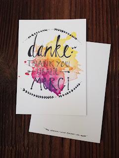 mit Strich und Faden: Danke Postkarte