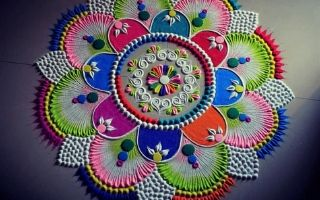 Multi colour Rangoli Design