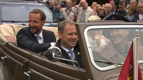 Crown Prince Haakon and Crown Princess Mette Marit of Norway visited Østfold