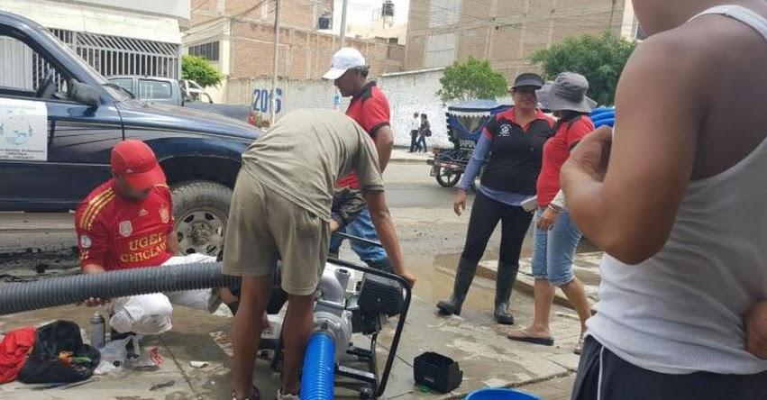 PRONIED entrega motobombas para desaguar colegios inundados en el norte del país - www.pronied.gob.pe