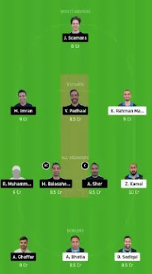 ECC vs HCC Dream11 team prediction