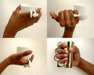 Diseño de anillo muy creativo  en forma de taza