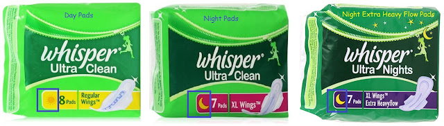 Whisper Ultra Sanitary Napkins DAY and NIGHT Review