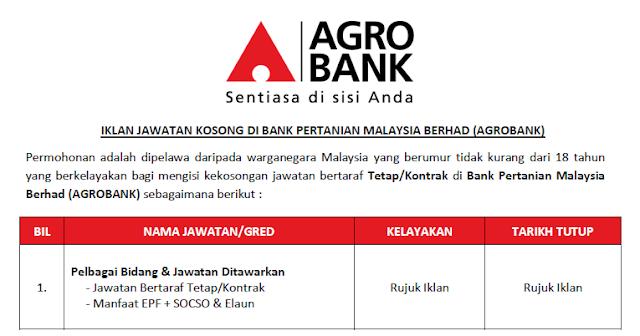 jawatan agrobank 2020