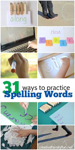 Spelling can be fun with one of these 31 Ways to Practice Spelling Words.