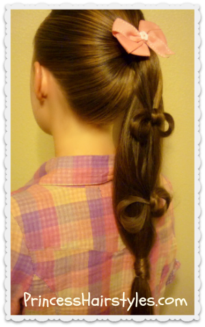 ponytail with cascading bows
