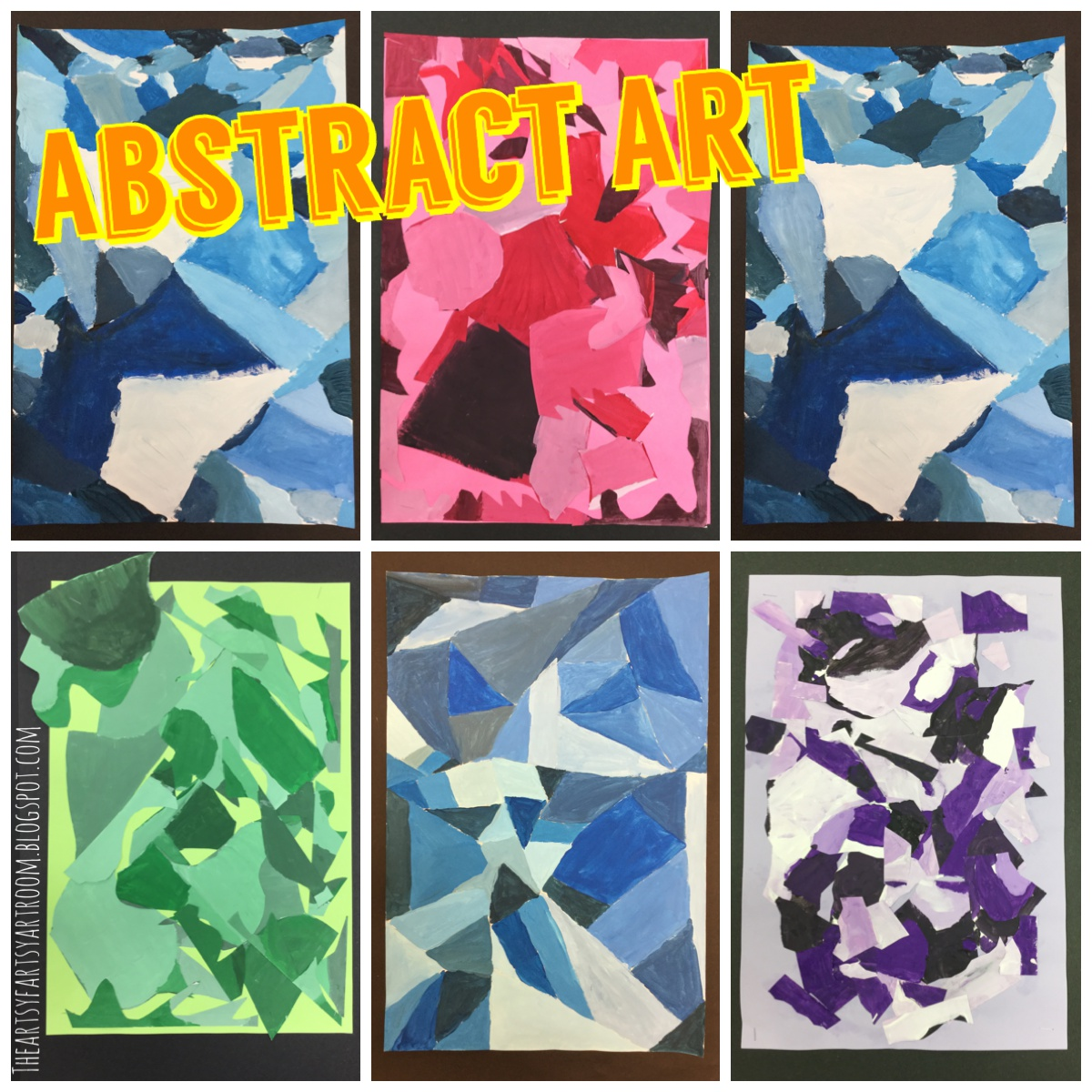 The Artsy Fartsy Art Room Abstract Paintings With 4th Grade