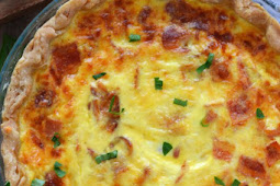 Ham and Cheese Quiche (gluten free or regular)