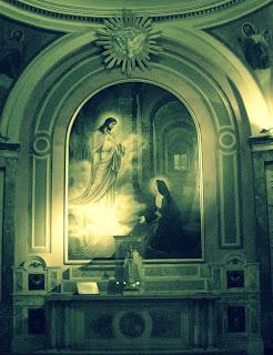 Cristo e A Virgem em Pintura no Interior da Catedral de Buenos Aires