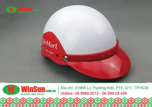 Đặt in mũ bảo hiểm với logo thương hiệu - chi phí thấp, hiệu quả cao
