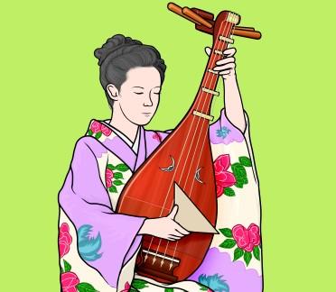 楽器事典:薩摩琵琶 さつまびわ