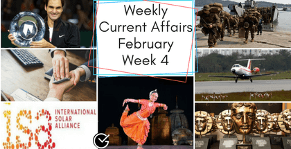 Weekly Current Affairs February,2018: Week 4