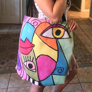 Colorful Cubism Tote Bag