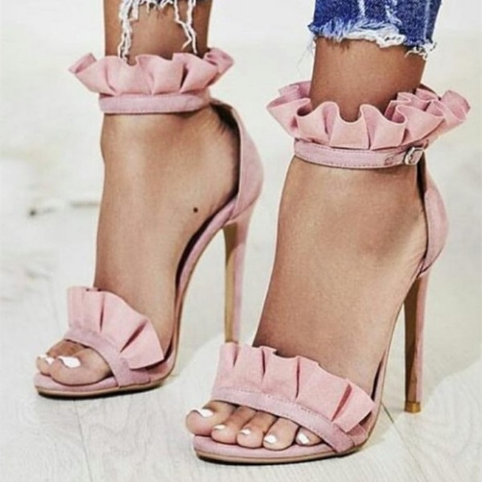 https://www.fsjshoes.com/pink-stiletto-heels-dress-shoes-ankle-strap-suede-ruffle-sandals.html
